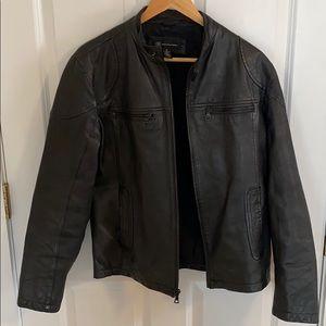 INC International Concepts Men's Leather Jacket
